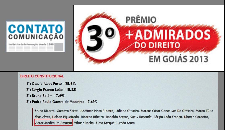 Victor Amorim entre os destaques do Direito Constitucional em Goiás