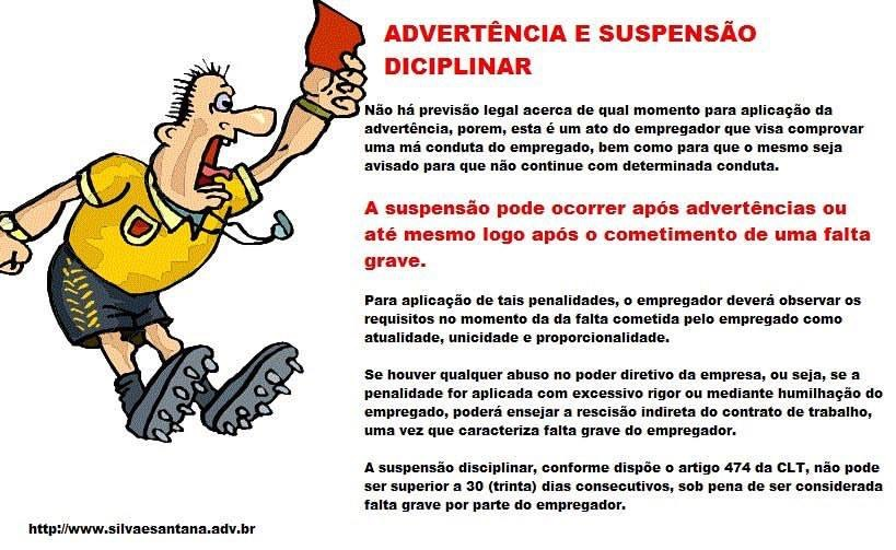Advertência e Suspensão Disciplinar