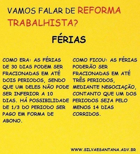 Reforma Trabalhsta Férias