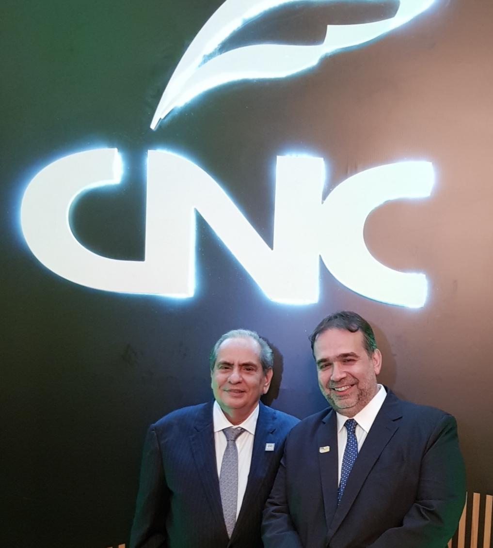 Presidente Tadros e Hugo Leão