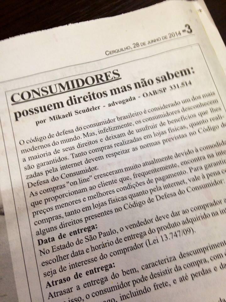Matéria para o Jornal Folha de Cerquilho