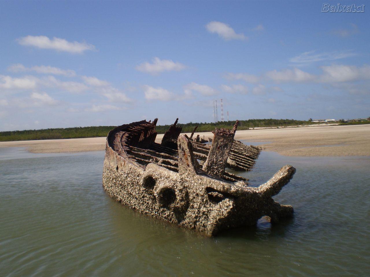 Navio do Sáculo XIX naufragado em Ajuruteua - Bragança
