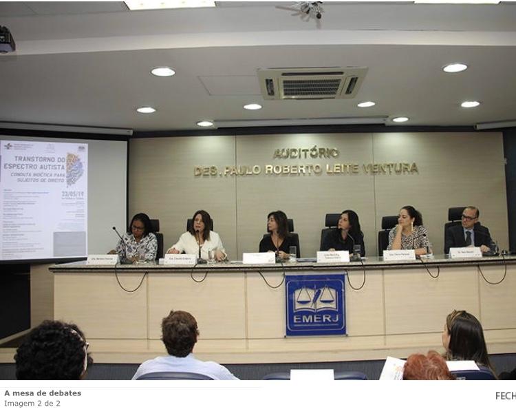 Participação no Fórum de Biodireito, Bioética e Gerontologia da EMERJ