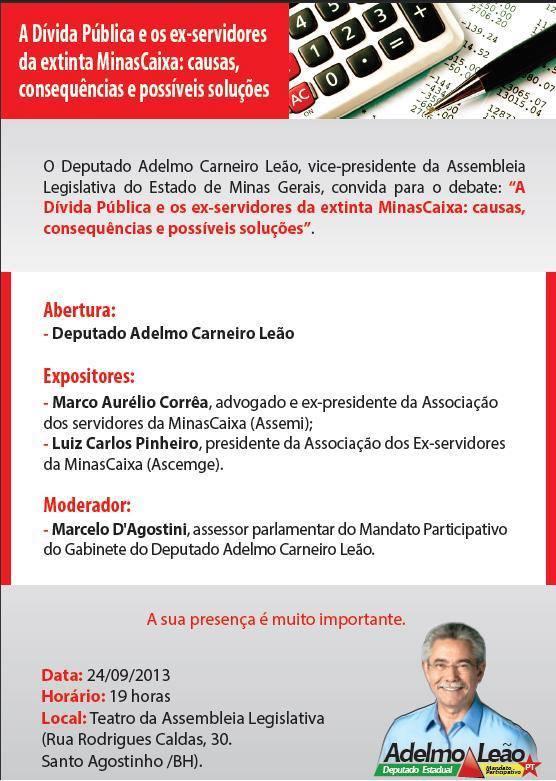 Debate na Assembleia Legislativa de Minas Gerais
